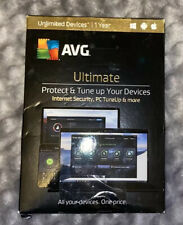 NIB! AVG Ultimate 2016 Unlimited Devices / 1 YEAR