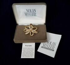 Nolan Miller Brooch Pin Vintage Ribbon Crystal Bow RARE