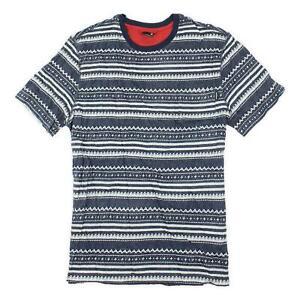 Nixon Mens Weft T-Shirt Navy White L New