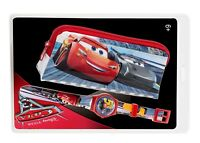 Kinder Armbanduhr Disneys Cars & Federmäppchen - Lightning Mcqueen Armbanduhr