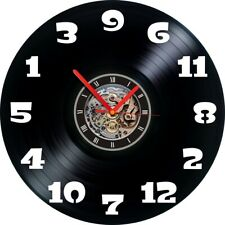 Mixed up numbers Vinyl Record Wall Clock Watch Round Black Time Clock