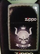 Zippo® Skull Crown Totenkopf Krone Iron stone New / Neu OVP
