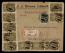DR WHO 1923 GERMANY LUBECK REGISTERED TO BAD SALZUFLEN  g41132