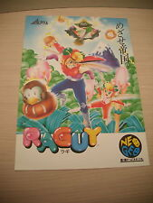 >> RAGUY BLUE'S JOURNEY NEO GEO RARE ORIGINAL JAPAN HANDBILL FLYER CHIRASHI! <<