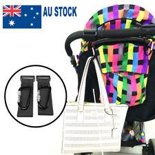 2pcs PRAM HOOK Baby Stroller Hooks Bag Clip Carrier Pushchair Hanger Metal Clips