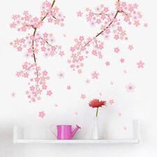 Pink Cherry Blossom Wall Art Sticker Mural Flower DIY Decal Girls Room Home