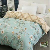 Embroidery Floral Duvet Quilt Cover Comforter Cover Bedding Set Twin Queen Size