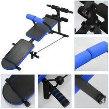 Adjustable Bench Press Flat Incline Sit up Workout Fitness Exercise Home Gym US