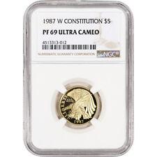 1987-W US Gold $5 Constitution Commemorative Proof - NGC PF69 UCAM