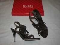 8.5 M Guess by Marciano Galena Brown Suede Leather Ladies shoes Galena Fringe