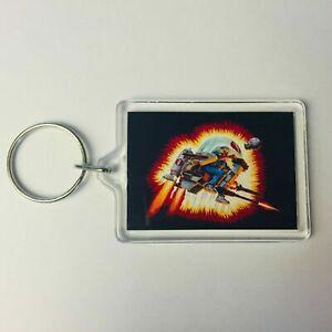 COBRA FLIGHT Pod Box Art GI Joe Action Force Key Ring Chain Keyring Fob