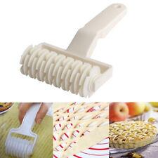 Dough Bread Cookies Pie Cake Lattice Pastry Cutter Roller Kitchen Craft Tool
