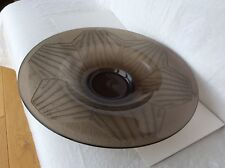 Charles Schneider signed Art Deco Acid-etched Glass Charger, circa 1920.