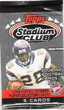 2008 TOPPS STADIUM CLUB FOOTBALL RELIC OR AUTOGRAPH HOT PACK.