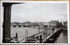 Pernambuco, Recife, Brazil 1936 Realphoto Postcard: 'Pte. Mauricio de Nassau'