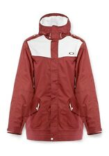 Men's Oakley Originate Long Snow Ski Snowboard Jacket Rhone Red Size Small S
