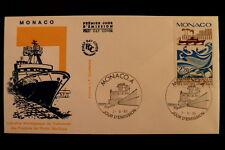 MONACO PREMIER JOUR FDC YVERT  1499        BATEAU DE PECHE      2,20F       1985
