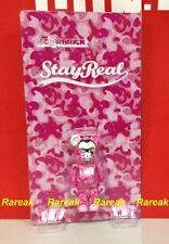 Medicom Bearbrick 2013 Stayeral Teen & Denim 100% Stayreal Camo Pink Be@rbrick