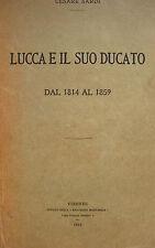 LUCCA DUCATO STORIA LOCALE