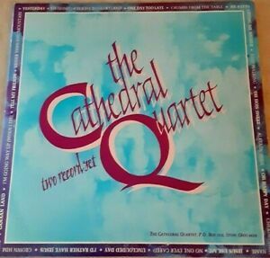 """The Cathedral Quartet """"two record set""""  Southern Gospel  (2) lps"""