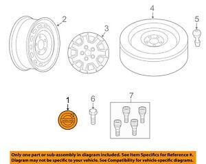 VOLVO OEM 11-16 S60 Wheel-Center Cap Hub Cover 31400452