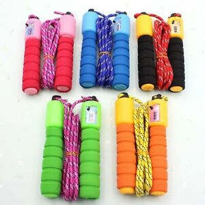 Jump Skipping Rope Plain Fitness Adjustable Adult Kids With Counter Indoor UK