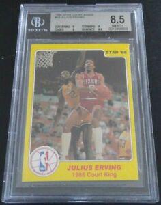 1986 Star Court Kings Julius Erving #13 BGS 8.5 NM-MT+ Philadelphia 76ers HOF
