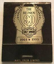 Harley Davidson Of Baltimore 90th Anniversary Matchbook Full Unstruck