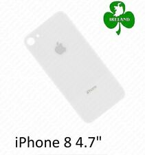 "For Apple iPhone 8 4.7"" Back Battery Cover Glass Plate White Replacement New"