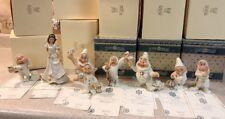 Disney/Lenox Snow White & the Seven Dwarfs Showcase Mint In Box W/ Certificates