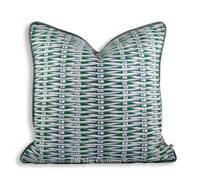 Christian Lacroix Barbade Designer Fabric Green White Sofa Throw Pillow Cover