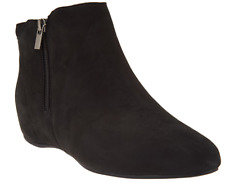 Rockport Total Motion Suede Ankle Boots Black Women's Booties Size 6 New