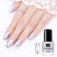 NEE JOLIE 3.5ml Nail Polish Mirror Silver  Color Nail Art Decors Varnish