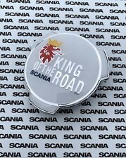 SCANIA EMBLEM BADGE GRILL TRUCK LORRY 1401610 KING OF THE ROAD WHITE CHROME LOGO