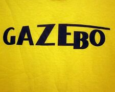 GAZEBO throwback racing logo yellow taxi T shirt kitschy Euro disco lrg tee