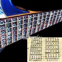 Guitar Fret Scale Musical Sticker Neck Fingerboard Fretboard Note Learn Pr AE