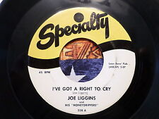 45 RPM: Joe Liggins I GOt a Right t Cry / The Honeydripper Specialty 338 VG+