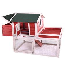 """65"""" Chicken Coop Backyard Hen Nest Box Deluxe Wooden Rabbit House Wood Hutch"""
