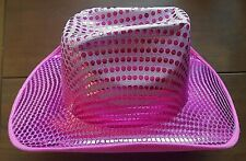 NEW FUSCHIA PINK SEQUIN LADIES COWGIRL HAT WESTERN TX RODEO WESTERN  MARY KAY