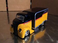 JADA TOYS D-RODS' 47.1/64   FORD COE van delivery yellow  loose