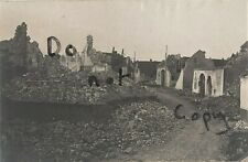 WW1 panoramic view ruins of the village of Comines France Belgium border