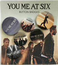 YOU ME AT SIX BADGE PACK 6 BADGES  YMA6
