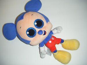 "Disney MICKEY MOUSE Big Head Sparkle Glitter Eyes 12"" Stuffed Plush Toy"