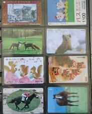 LOT DE 8 TELECARTE JAPON ANIMAUX ANIMALS cheval horse christmas parfait état 11