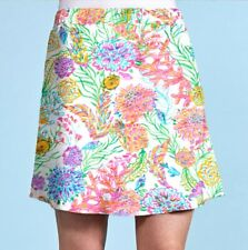 FRESH PRODUCE Large White AVERY Stretch OCEANSCAPE Skirt $65 NWT New L