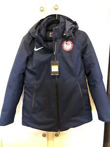 Paralympic Team USA NIKE Jacket Small Navy Training Women NWT Coat S small new