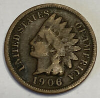 FREE SHIP! 1906 Indian Head Cent -100+ Year Old Penny -20th Century US Type Coin