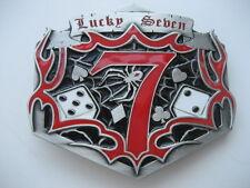 LUCKY SEVEN   BELT BUCKLE (BK60)