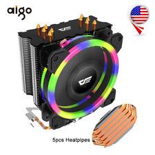 For LGA 775 115X 5 Heatpipes L5 CPU Cooler Heatsink 120mm 4Pin PC Case Fans Aigo