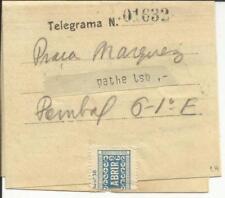 Portugal TELEGRAM FORM - RATO LISBON 20/JUL/34(see inside) Telegram